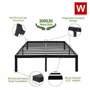 Heavy Duty Steel Platform Bed Frame - Metal Bed Frame With Storage - Height 14