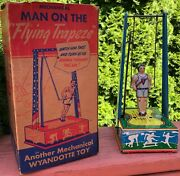 1941 Wyandotte Mechanical Man On The Flying Trapeze + Box Made In The U.s.a.