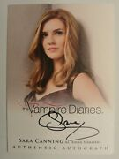 Vampire Diaries Season 2 Sara Canning Jenna Sommers Autograph Card Auto A11