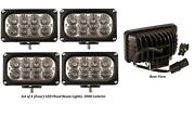 Led Flood Cab Lights Front And Rear For Kubota Tractor Td170-75300