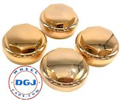 Hex Smooth Gold Knock-offs Spinners For Lowrider Wire Wheels