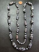 Rare Antique Venetian Trade Beads Necklace Lewis And Clark Bead C.1880 40 Inch