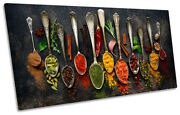 Spoons Spices Kitchen Modern Picture Panoramic Canvas Wall Art Print