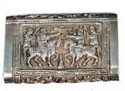 Antique Extraordinary Collectible Silver Repousse Trinket/snuff Box.g10-60 Us