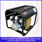 New 4500psi Pump Pcp Compressor Double Cylinder High Pressure With Double Filter