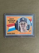 2017 Topps Archives Aaron Judge Rookie Rc Blue Border Gray Sp 03 /75 Rare 🔥