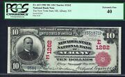 Ny 1902 10 Red-seal ♚♚albany New York♚♚ Pcgs Extremely Fine 40