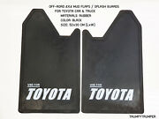 4wd 4x4 Off-road Mud Flaps Splash Guards Use For Toyota Car Truck Black Rubber