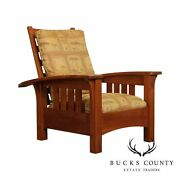 Stickley Mission Collection Cherry Bow Arm Morris Chair