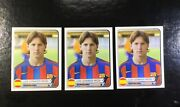 Lionel Messi Panini 2005-06 Messi Second Year 3 Three Cards Lot