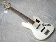 Fender Modern Jazz Bass V Olympic Pearl Electric Bass Guitar Shipped From Japan