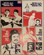 Yankees Budweiser Advertising Signs Mantle Ruth Gehrig Dimaggio Tradition