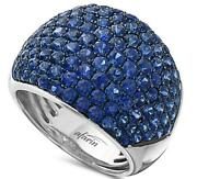 Wide 4.45ct Aaa Sapphire 18k White And Black Gold 3d Multi Row Classic Love Ring