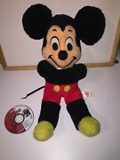 Vintage 1960s Mickey Mouse And Donald Duck Large Stuffed Animal Set