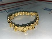 Solid 14k Thick Nugget Style Bracelet 45.7 Grams 8 Tracked And Insured