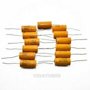 Lot Of 13x Vintage Sprague Axial Electrolytic Capacitors 40uf 200v Tva-1442