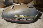 1975 Harley Davidson Amf Sx125 Blue Gas Tank Fuel Tank With Cap Clean Inside