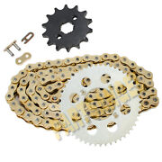428-118l Gold Drive Chain And 14/50 Tooth Sprockets Kit For 2004-2013 Honda Crf100