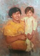 Custom Child Oil Portrait On Canvas Commission Painting From Photo