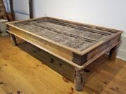 Antique Indian Palace Door Chai Coffee Table