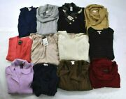 Wholesale Bulk Lot Of 12 Womens Mixed Brands Casual Winter Formal Sweaters L