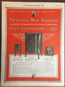 1930 The New Sparton Radio Phonograph 3 Models Shown Advertisement