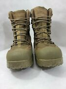Wellco Mens Size 10.5 R Desert Tan Suede Leather Army Combat Boots New Hiker