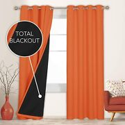 Deconovo 100 Blackout Curtains 84 Inches Long Set Of 2 Total Block Out Shades T