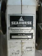 Vintage Simpson Lawrence Seahorse Windlass Winch Stainless Parts Or Repair