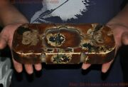 Chinese Liangzhu Culture Old Jade Carved Statue Ink-stone Ink Slab Inkwell Box