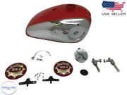 Bsa Gold Star Scrambles Catalina 2 Gal Red Tank +cap Tap Badges B Pipe|fits For