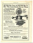 1921 White Products Co. Ad Lock A Meter Cap - Michigan Ave., Chicago, Illinois