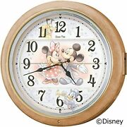Seiko Clock Wall Mickey And Minnie With 6 Songs On 2 Marble Patterns Fw561a New