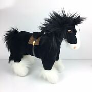 Disney Store Plush Brave Merida Angus Clydesdale Black Horse 18 In Stuffed Toy