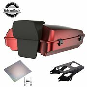 Hard Candy Hot Rod Red Flake Razor Tour Pack Trunk Luggage For Harley 1997-2020