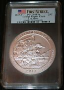 2017-p Pcgs Sp70 First Strike George Rogers Clark 5 Oz Silver