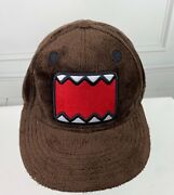 Unisex Domo Fuzzy Furry Brown Fitted Hat - Cap - Adult Size - Domo Animation Euc