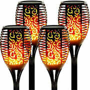 8pcs 96led Solar Flame Light Garden Courtyard Lawn Torch Lamp Ip65 Home Outdoor