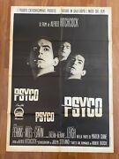 Manifesto2f Poster 1960 Psyco Psycho Alfred Hitchcock Leigh Anthony Perkins