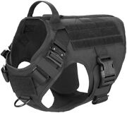 New Tactical Dog Harness With 2x Metal Buckleworking Dog Molle Vest Free Ship