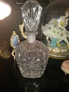 Huge Heavy Tall Glass Victorian Perfume Scent Cologne Lady Chic Vanity Bottle