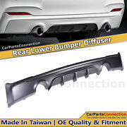 Black Rear Bumper Diffuser For Bmw F22 F23 2-series 14-19 Performance Style