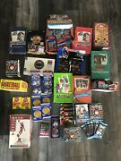 Huge Lot Of Unopened Basketball Wax And Foil Packs 100+ Cards Nba Free Shipping