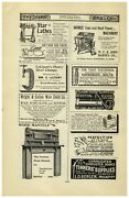 1896 Paper Ad Barnesand039 Foot Pedal Hand Power Table Saw Star Lathe