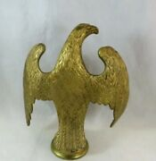 Rare Antique Bronze Brass Eagle Flag Topper Finial - Amazing Quality And Detail.