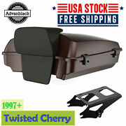 Advanblack Twisted Cherry Razor Tour Pack Trunk Luggage Fits 97+ Harley Touring