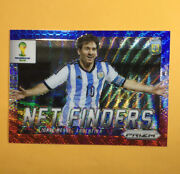 Lionel Messi 2014 Prizm 1st World Cup Net Finders Blue White Red Wave Sp