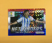 Lionel Messi 2014 Prizm World Cup Net Finders Red White Blue Checkers 2 Hot Hot