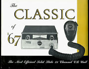 1967 Eci Courier Classic 23 Ch Cb Radio Original Factory Dealer Sales Sheet Page