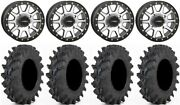 System 3 Sb-3 Machined 14 Wheels 28 Outback Max Tires Kawasaki Brute Force Irs